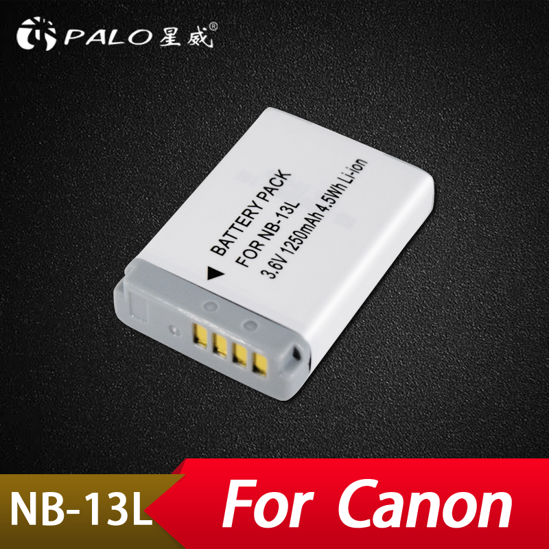 цена на Palo 1250mAh 3.7V NB-13L NB 13E Camera Battery for Canon PowerShot G5 X G5X G7 X Mark II G7X G9 X G9X SX720 HS