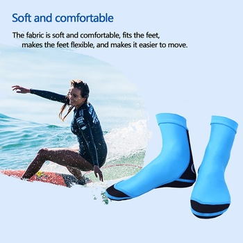 Sport skarpety nurkowe nurkowanie skarpety nylon neoprenowy 1 5 MM z płetwy stóp skarpetki do snorkelingu buty do nurkowania plaży skarpety sporty wodne tanie i dobre opinie Podkolanówki Camping i piesze wycieczki