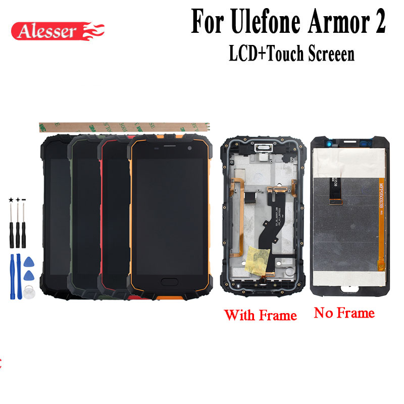 Alesser For 5.0 Ulefone Armor 2 LCD Display +Touch Screen +Frame Assembly Repair Parts Replacement Accessories +Tools +AdhesiveAlesser For 5.0 Ulefone Armor 2 LCD Display +Touch Screen +Frame Assembly Repair Parts Replacement Accessories +Tools +Adhesive
