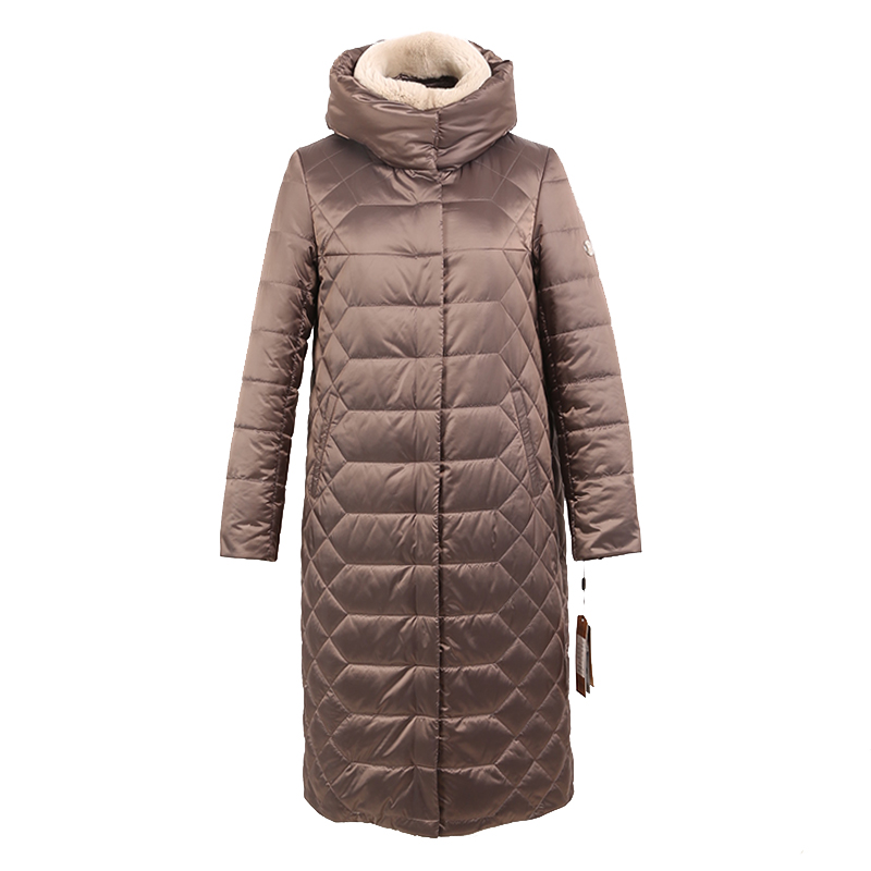 women winter coat   parka   jacket rabbit fur detachable collar hooded korea High quality material plus size 6XL 7XL 5XL 7-28370