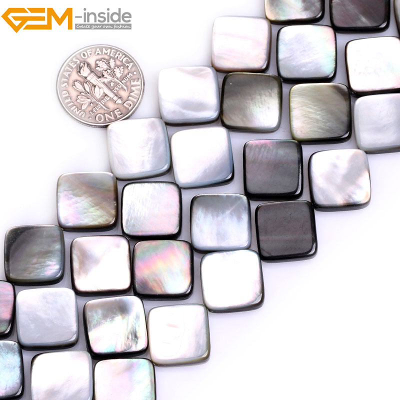 Natural Black Lip Shell Beads Diagonal For Jewelry Making 12mm 15inches DIY Jewellery FreeShipping Gem-inside