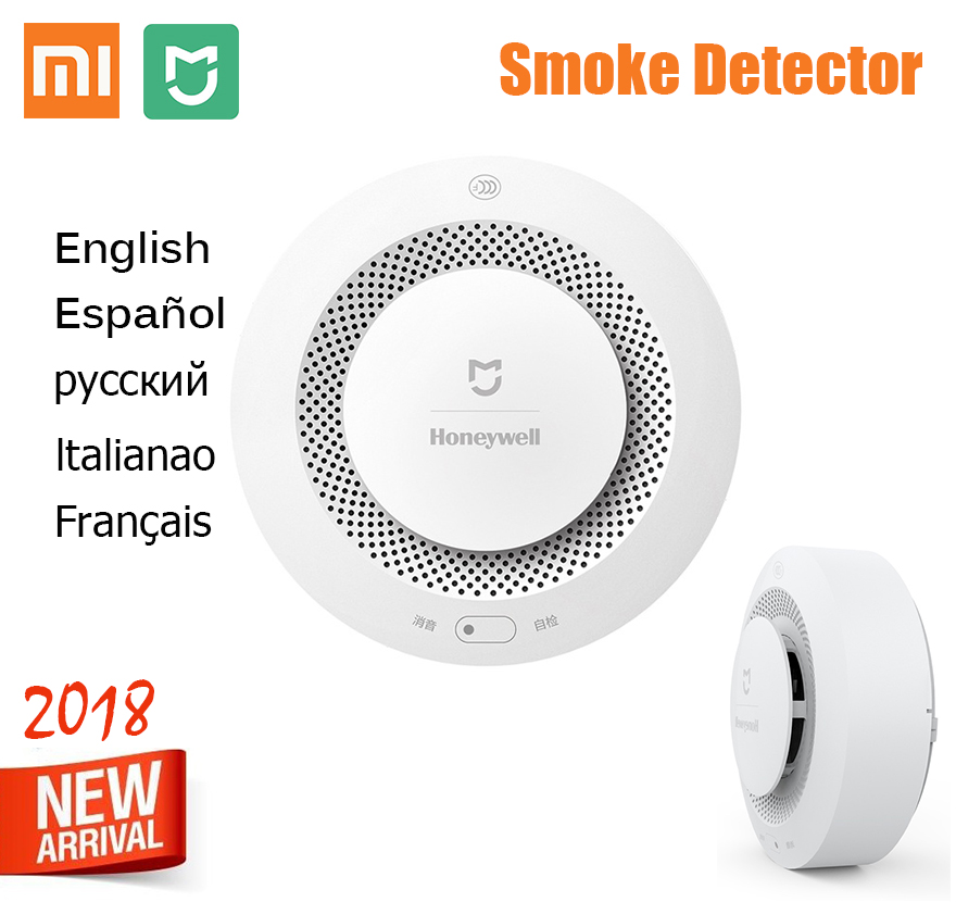 Original Xiaomi Mijia Fire Smoke Alarm Support Remote Control Honeywell Fire Smoke Alarm Detector(China)