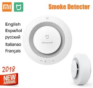 Image 2 - Original Xiaomi Mijia Feuer Rauch Alarm Unterstützung Fernbedienung Honeywell Feuer Rauch Alarm Detektor