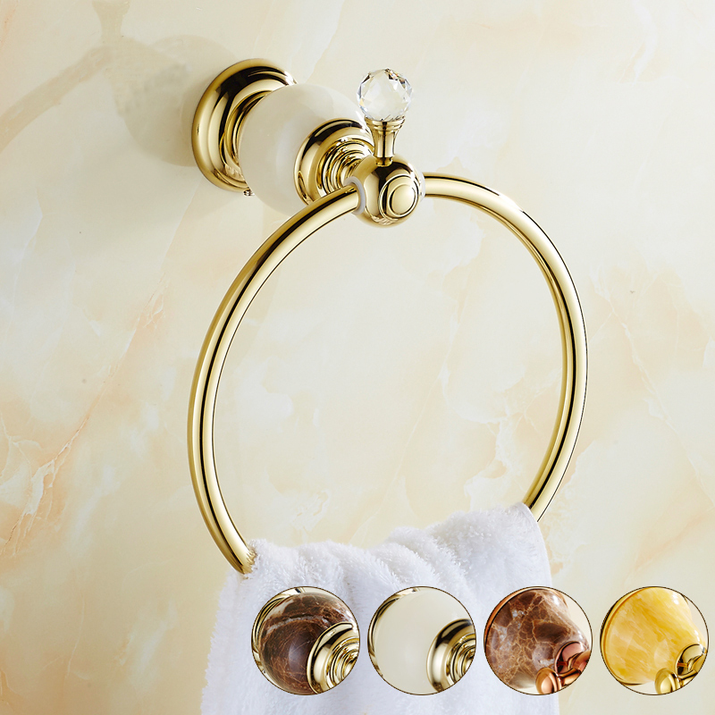 ФОТО 4 Style jade copper antique towel ring bathroom, Vintage brass towel wall rack rings, Kitchen towel ring holder, Free shipping