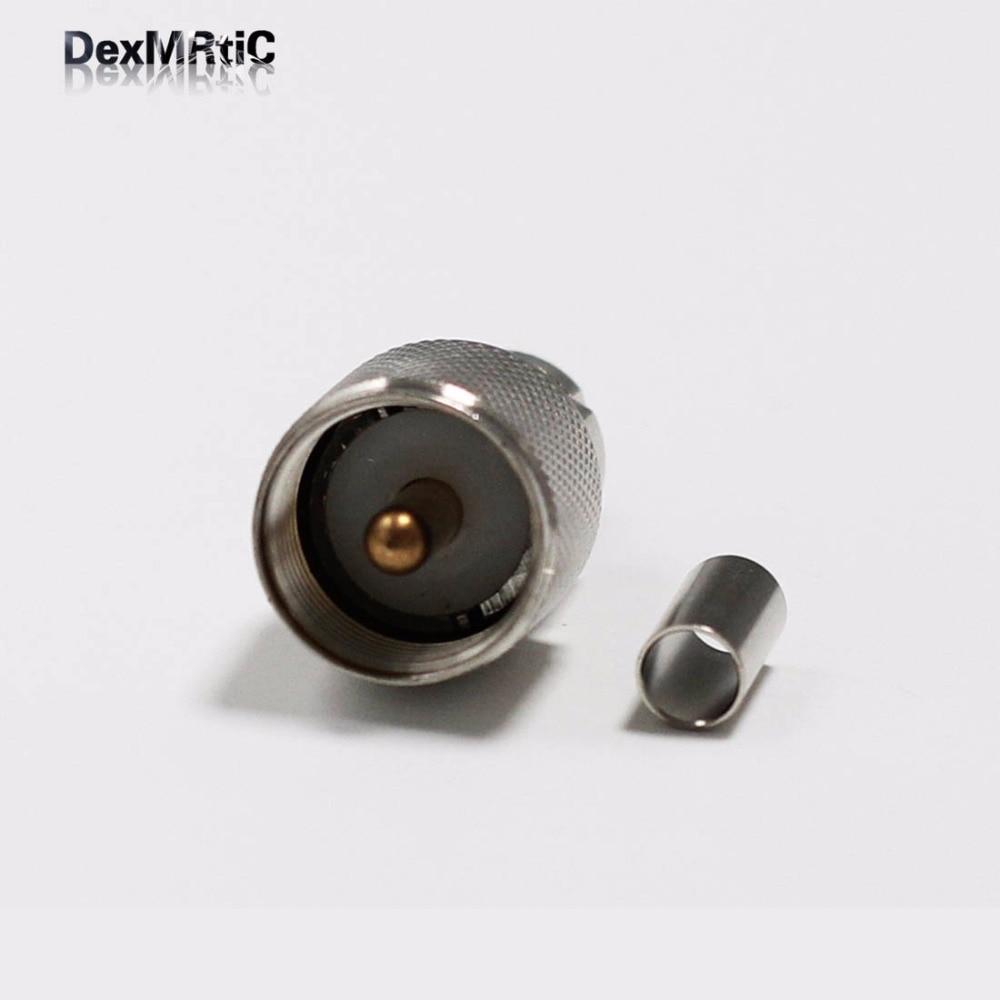 5PCS 20in RG142 Cable PL259 UHF Male Plug To SMA Female Jack Crimp Coax SS