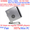 Intel Celeron 1037u Dual Core mini pc 12v 1.8Ghz linux mini pc for office bank school home etc