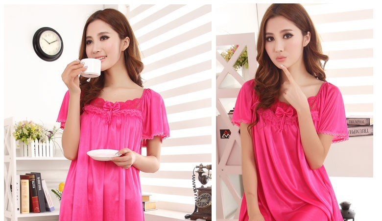 Kedatangan baru! Stylish short sleeved long section of lace ... e81333e74
