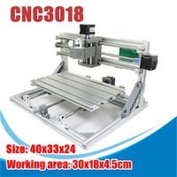 3018 3 оси красная резьба по дереву CNC резьба PCB фрезерный станок маршрутизатор гравер GRBLControl