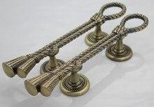275mm antique brass wood door handle Unfold Install bronze big gate door pull home ,Ktv ,Hotel ,Office door pull door fittings