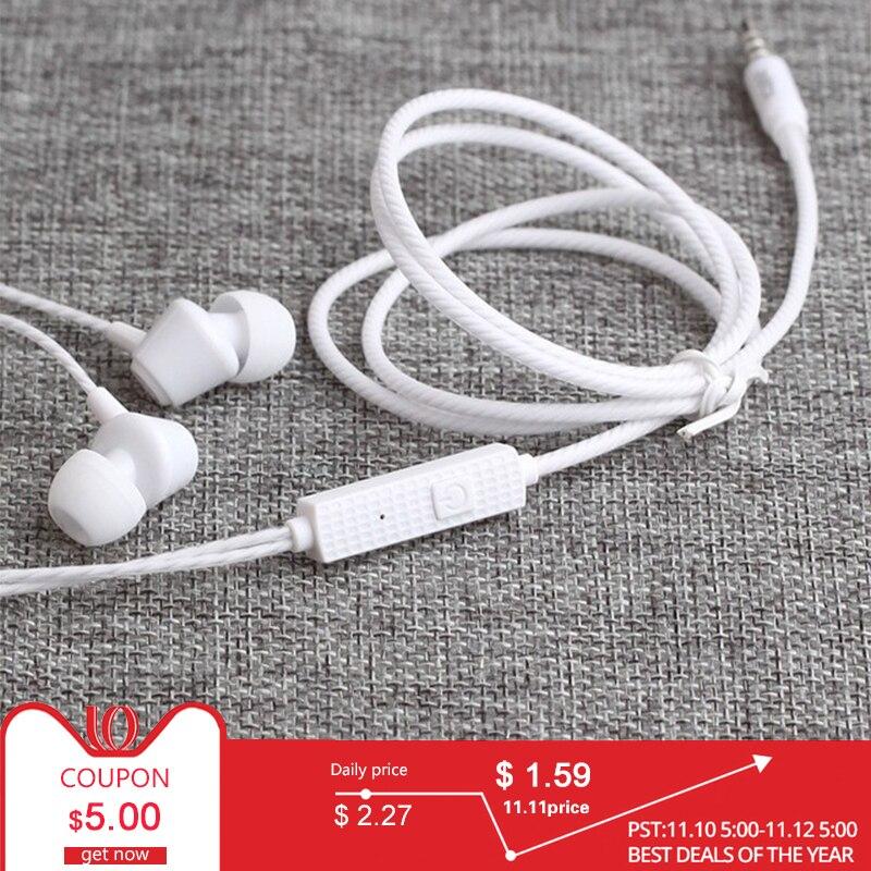"""חדש אוזניות Wired 3.5 מ""""מ באוזן עם מיקרופון עבור טלפון נייד סטריאו אוזניות אוזניות fone דה ouvido kulakl k עבור xiaomi"""