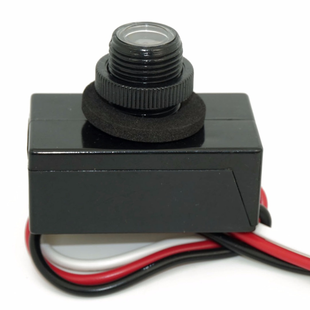 Mayitr JL-103A Flush Mount Dusk Dawn Button Photo Control Eye Photocell 120V Raintight Photoelectric Switch for Outdoor Lights