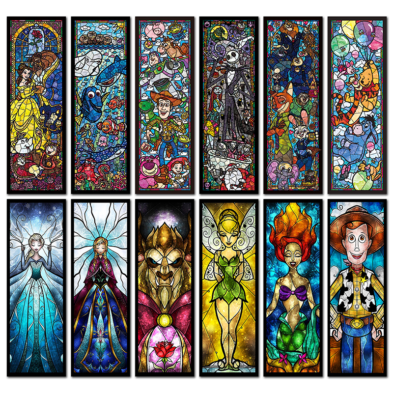 25 patterns 5D DIY Diamond Painting Cross Stitch Cartoon Animal Full Square Diamond Embroidery Anime Fairy Diamond Mosaic Beauty