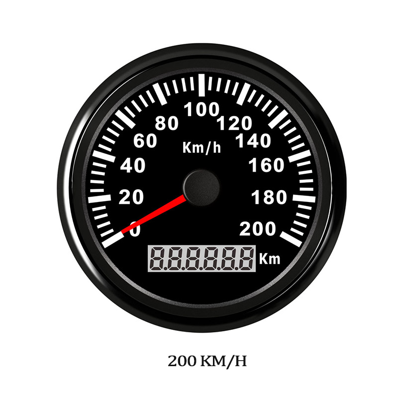 Yacht Car Digital GPS Speedometer 120 200 kmh Red LED Speed Gauge for Honda Motorcycle Car Boat IP67 Waterproof