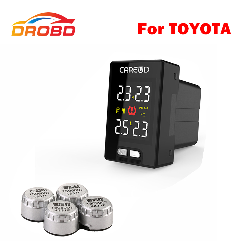 Careud U912 With 4 External Sensors Tyre Pressure Monitoring System Car TPMS PSI/BAR For NISSAN Free shipping