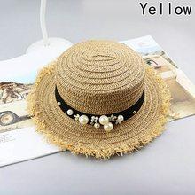 Praia chapéu de palha das mulheres chapéus de sol Personalidade Necessaries  Item viagem bonés Chique Clássico b4a23109cfb