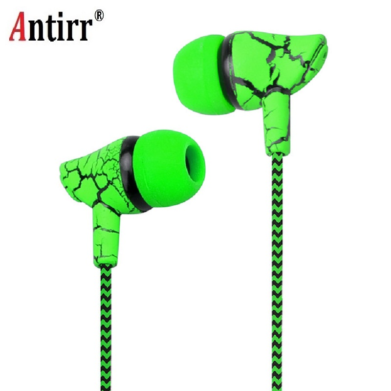 Crack Braided Wired Headphone With Microphone Wired Control Super Bass Universal For Android IPhone 3.5mm Plug Free Shipping