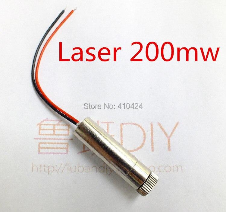 Lasermodul mini graviermaschine cnc streicheleinheiten 200 mw rot