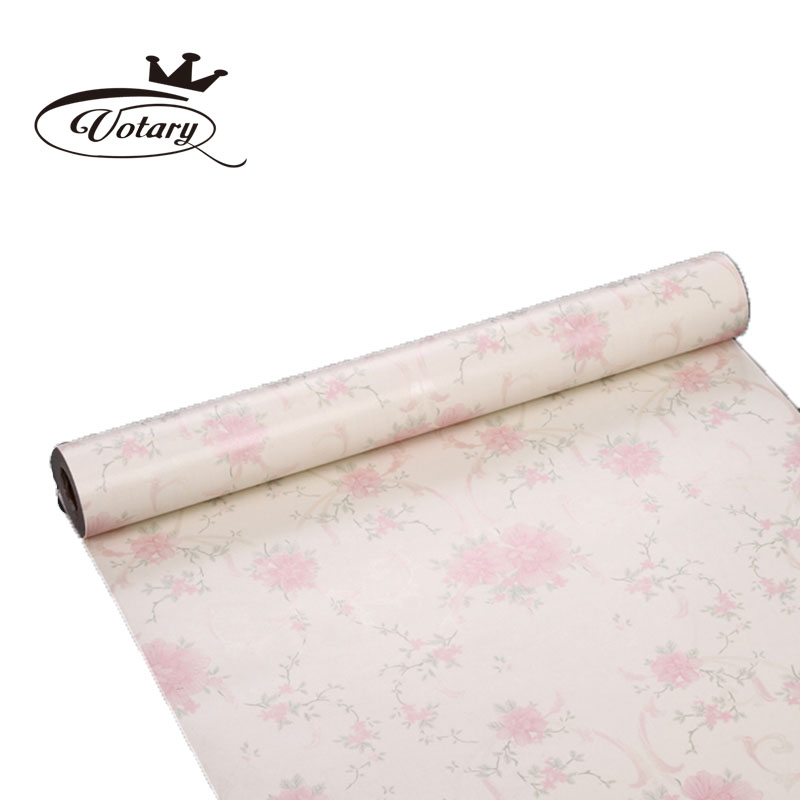 Decorative pink floral contact paper glitter wallpaper for Decorative paper rolls