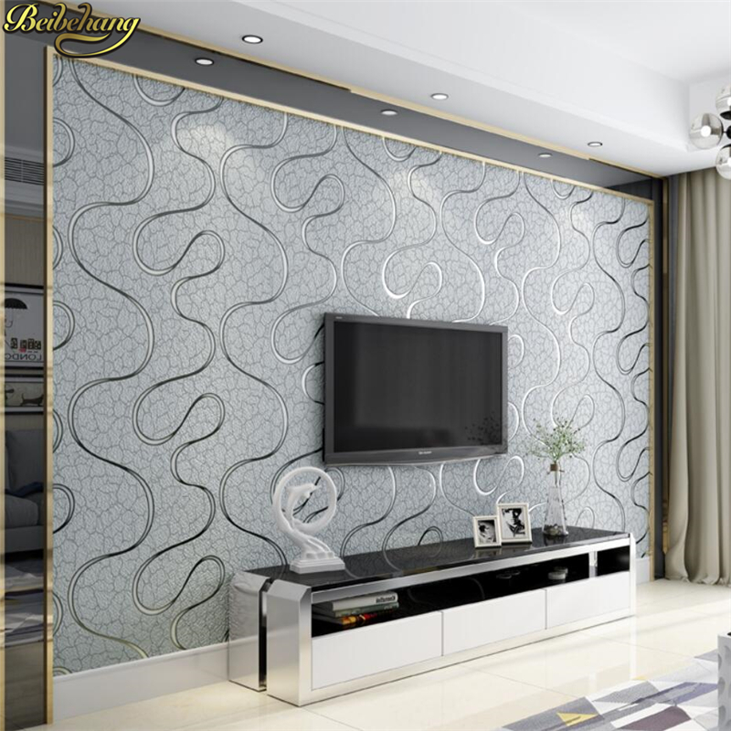 beibehang papel de parede 3d Modern wavy stripes wallpaper for wall Covering Bedroom wall paper roll Modern Design Living Room beibehang luxury leather papel de parede 3d wall paper modern vintage wallpaper for wall 3d living room wall covering decor
