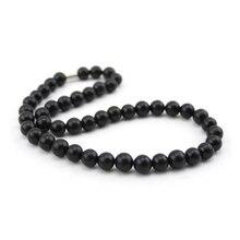 Black Stone Necklace For Massage