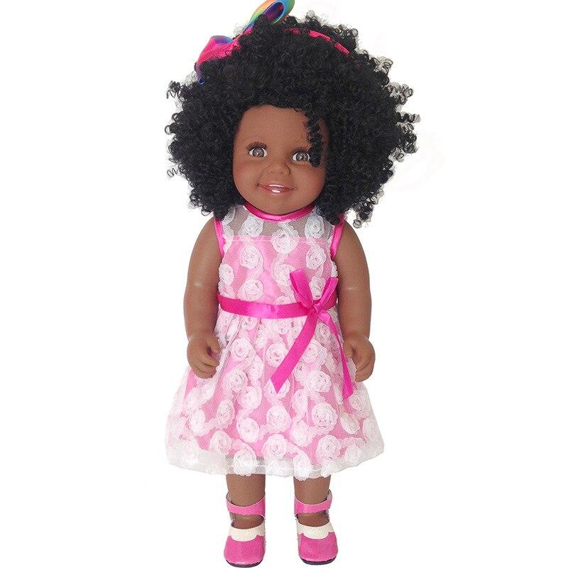 Africano Americano nero del bambino della bambola della ragazza di 18 45 centimetri pieno del corpo del vinile del silicone reborn baby-l. o. ldolls bambino bebe regalo reborn meninaAfricano Americano nero del bambino della bambola della ragazza di 18 45 centimetri pieno del corpo del vinile del silicone reborn baby-l. o. ldolls bambino bebe regalo reborn menina