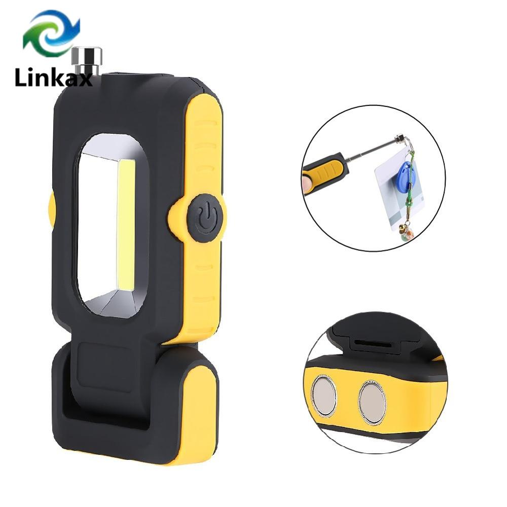 Outdoor Camping Light Portable Lantern Tent Lamp Magnetic COB LED Work Light Lamp Super Bright With Pick Up Tool Magnet
