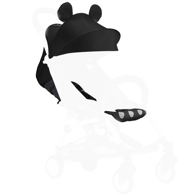 Cojín Cochecito de bebé sombrilla Toldo Cochecito de niño Accesorio Bebé Asiento Del Cochecito de Niño Pad + Parasol Tapa Fácil Mentir