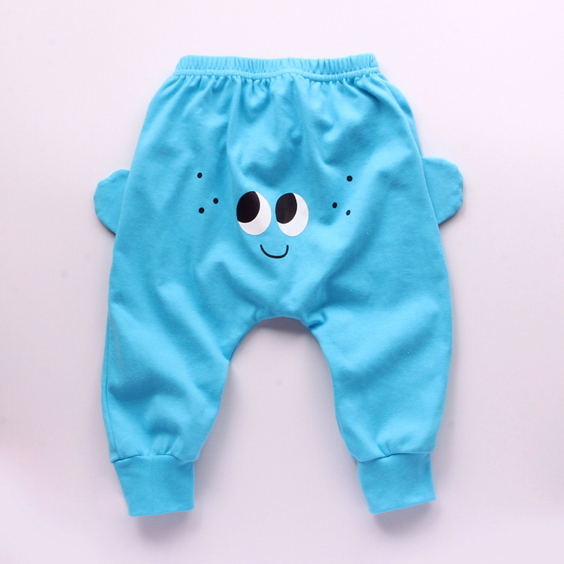 78bf38b33 Baby Pants Cute Cartoon big eyes Pattern Boys Harem Pants Cotton ...