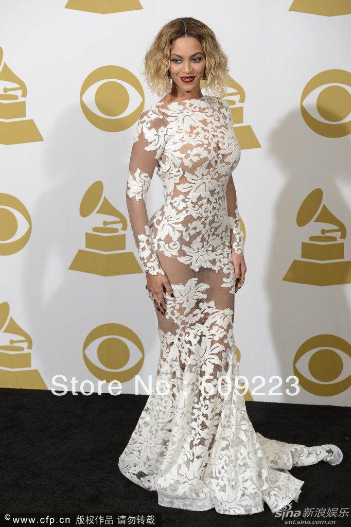 Grammy Awards New Arrival 2014 Beyonce Lace Cheap Open ... Beyonce Prom Dresses 2014