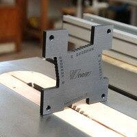 2 pz/set Per sega, fresatura macchina, flip-chip incisione di misura testa di taglio altezza righello Strumento di Misura strumenti di Lavorazione Del Legno