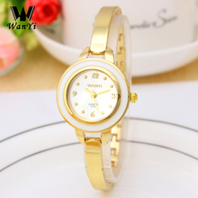 WANYI Luxury Women's Bracelet Watch Jewelry Gold Alloy Strap Rhinestone Quartz Dress Watches relogio feminino montre femme