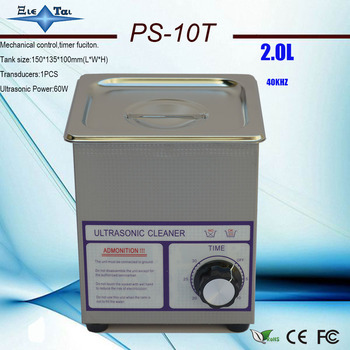 globe free shipping AC110/220V mini ultrasonic cleaner 2L ps-10T 60w 40khz  jewely ,gleases ,ring coin cleaning machine