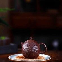 Чайный горшок, известный, полный, ручной, сырой руды, Чеканный, яйцо дракона, горшок с фиолетовой и красной грязью, кунг-фу, онлайн, чайный горшок, чайный набор, костюм, подарок