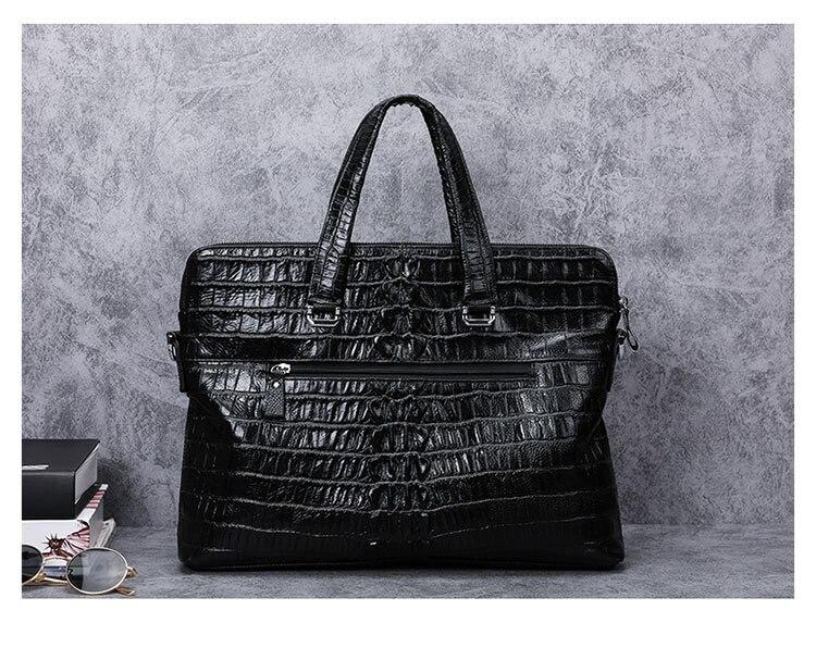 Special Offer Luxury Alligator Pattern Genuine Leather Men Handbag Casual Shoulder Bag Natural Cow Leather Business Briefcase
