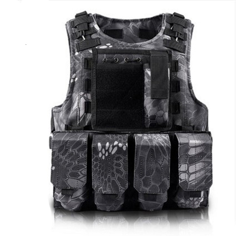 Men's Military Tactical Hunting Vest Police Paintball WarGame Wear Body Molle Armor Hunting Vest CS Combat Hunter Equipment Vest police armor pl 14378jsr 12p