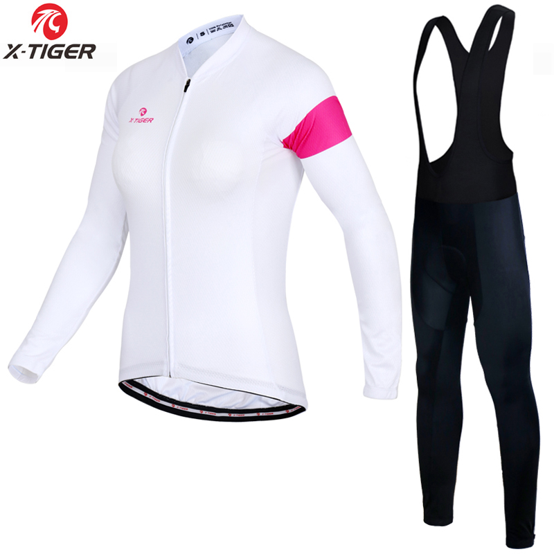 X-TIGER Women Winter Long Cycling Jersey Set Racing Bike Thermal Fleece Ropa Roupa De Ciclismo Invierno MTB Bicycle Clothing black thermal fleece cycling clothing winter fleece long adequate quality cycling jersey bicycle clothing cc5081