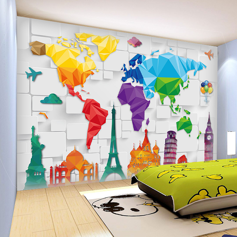 Custom 3d photo wall mural wallpaper for living room for Custom size wall mural