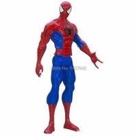 12' 30 cm spiderman homem aranha capitão américa ironman modelo coleção pvc dos desenhos animados comics super hero figuras de ação brinquedos