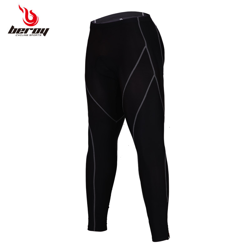 New mens Bicycle Pants SANTIC Wind Cycling Long Pants quality Fall Winter 3D padded riding Pants Tights Trousers Men