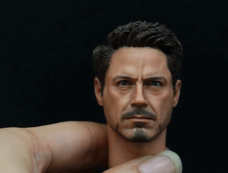 1/6th scale doll Accessory Iron Man Tony headsculpt Robert Downey Jr  head shape for 12 Action figure,Not included body,clothes 1 6 scale male head sculpts model toys downey jr iron man 3 captain america civil war tony with neck sets mk45 model collecti f