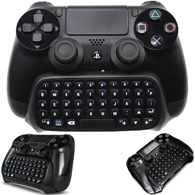 Bluetooth Wireless Mini Keyboard Chatpad, Controller Gaming Message Usb  Game Keypad Adapter For Playstation 4 , Slim, Pro Cont