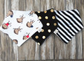 Children Bib Pure Cotton Handmade Baby Special Waterproof Cotton Double Triangle Towel Baby Snap Slobber Bib Infant Bib 3pcs/lot