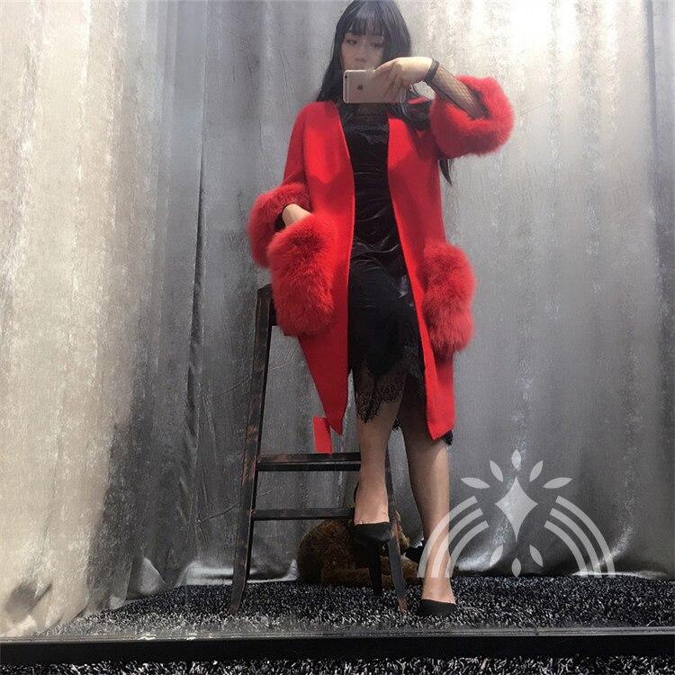 Zorro La Suéter Mujeres caqui Piel Negro rojo De Chaqueta Señoras púrpura Punto Capa Bolsillo Nuevas Manera Con Gran muchacha Cardigans n4wfxqP0