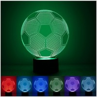 Fashion Football Lamp 3D Visual Led Night Lights For Kids Robot Touch USB Table Lampara As