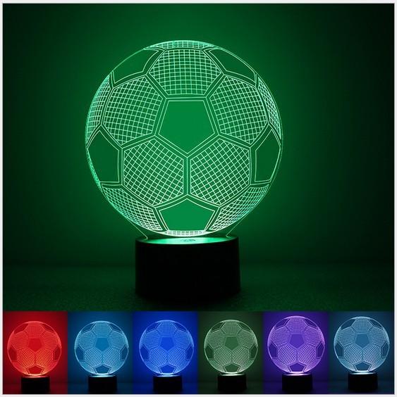 Moda Lâmpada De Futebol 3D Visual Led Luzes da Noite para Crianças Robot Lampe Lampara como Ao Lado de Toque USB lâmpada de Mesa Do Bebê Dormir Nightlight