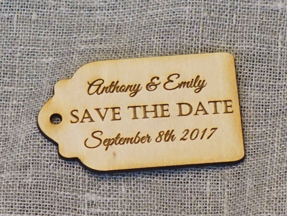 Personalized thank you wedding tags , custom Engraved Wooden Tags, wedding favor tags, rustic wedding , Bridal Shower Favor Tags