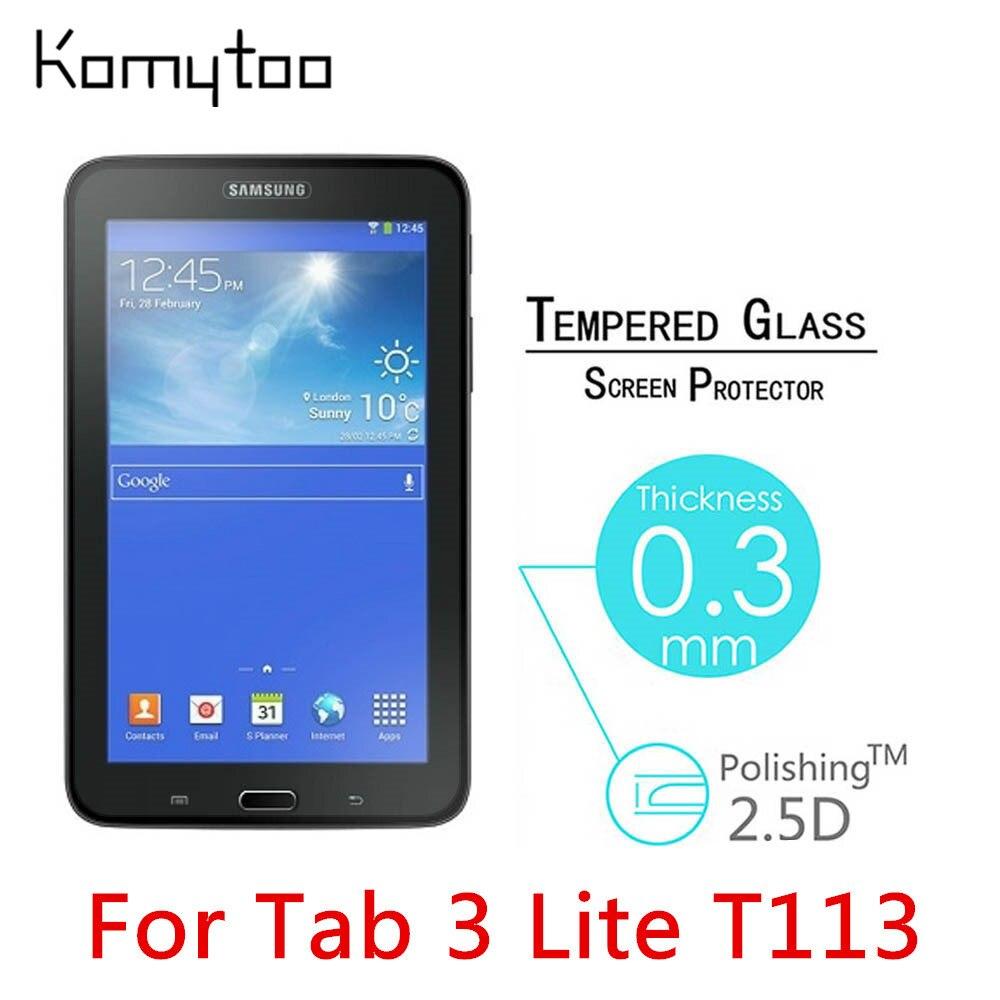 """imágenes para 10 unids 9 H A Prueba de Explosiones de Cristal Templado Para Samsung Galaxy Tab 3 Lite T113 7 """"Endurecido Película pantalla Protege La Cubierta"""