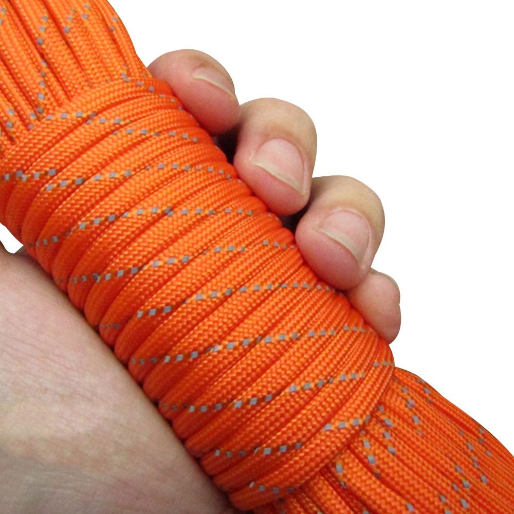 Диаметр 4 мм парашют веревка палатка ремесла отражающая палатка веревка воды исследовать парашют 31 м износостойкость Кемпинг шнур - Цвет: orange