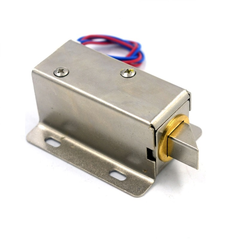 Best Selling Electric Solenoid Bolt Cabinet Lock Fail Safe Small Metal Electric Cabinet Solenoid Bolt Lock Power to Open Drawers 12v cabinet case electric solenoid magnetic lock micro safe cabinet lock storage cabinets electronic lock file cabinet locks