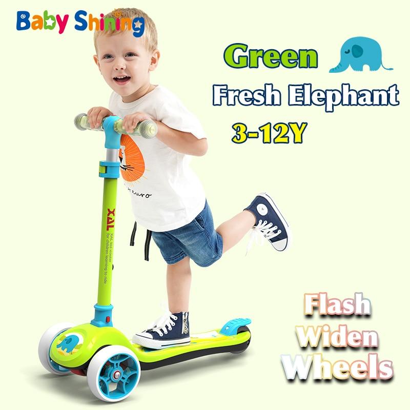 Bébé brillant enfants Scooter 3-12Y bébé Flash-roue vélo enfants jouets Balance vélo béquille pour garçon fille Attractions cadeau